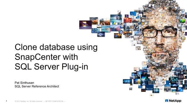 How to Clone a Database Using SnapCenter with SQL Server Plug-In