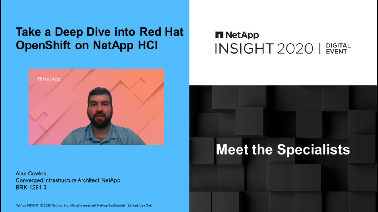 Take a Deep Dive into Red Hat OpenShift on NetApp HCI