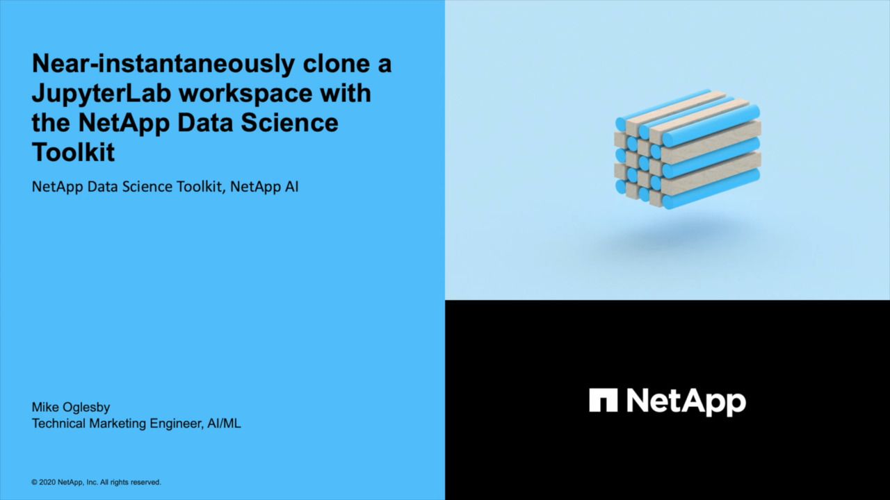 Clone a JupyterLab Workspace with the NetApp Data Science Toolkit
