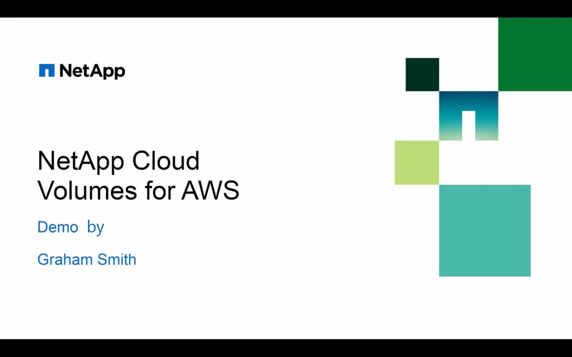 NetApp Cloud Volumes Service for AWS