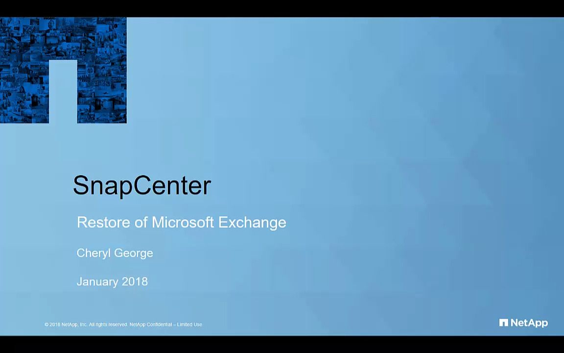 SnapCenter Plug-In for Microsoft Exchange Restore