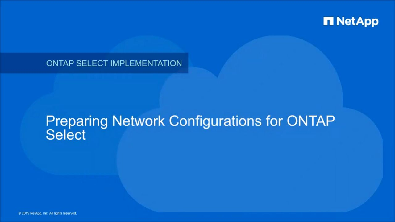 ONTAP Select Networking