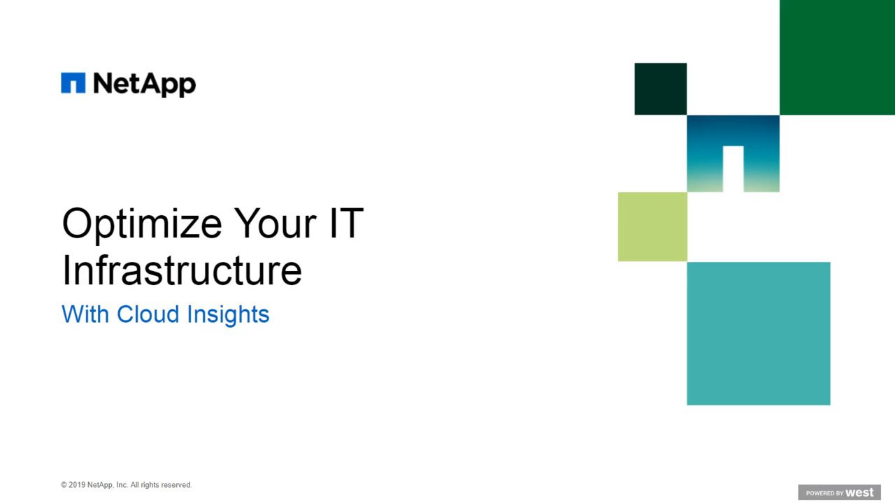 Optimize Your IT Infrastructure with NetApp Cloud Insights