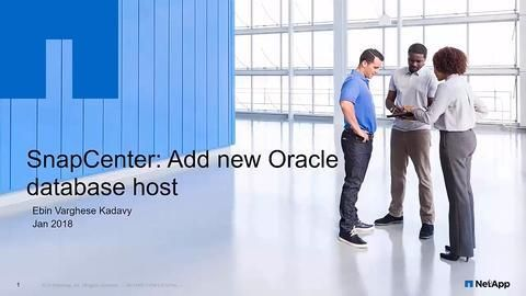 How to Register an Oracle Database Host with SnapCenter
