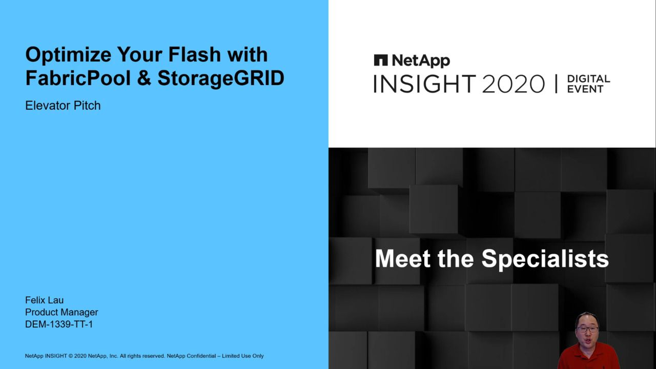 Optimize Your Flash with FabricPool and StorageGRID