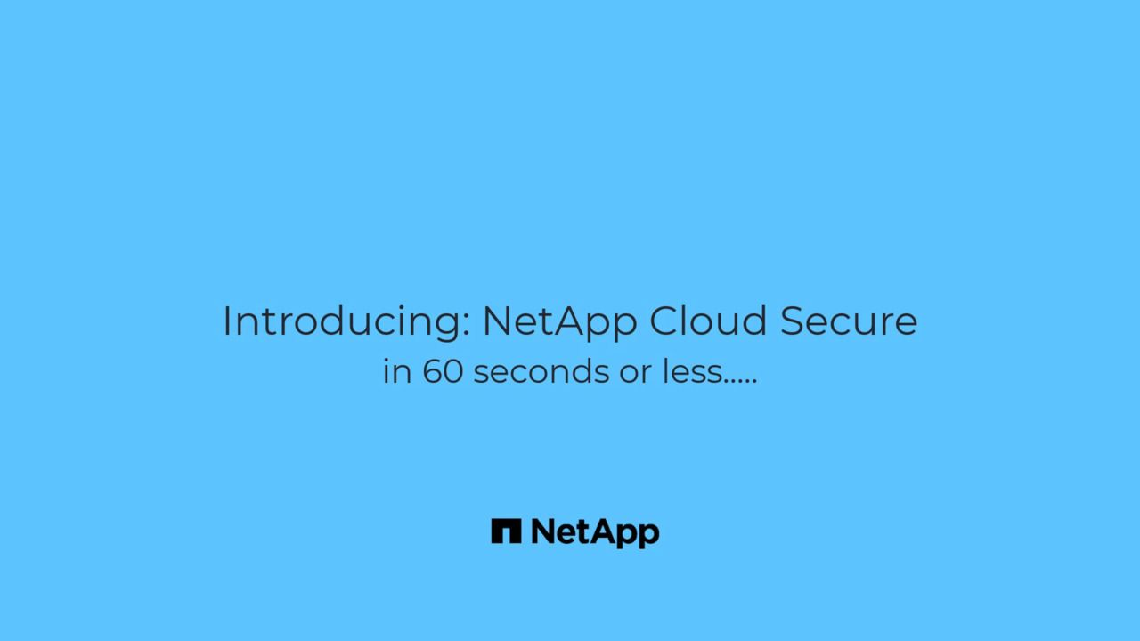 NetApp Cloud Secure in 60 Seconds or Less