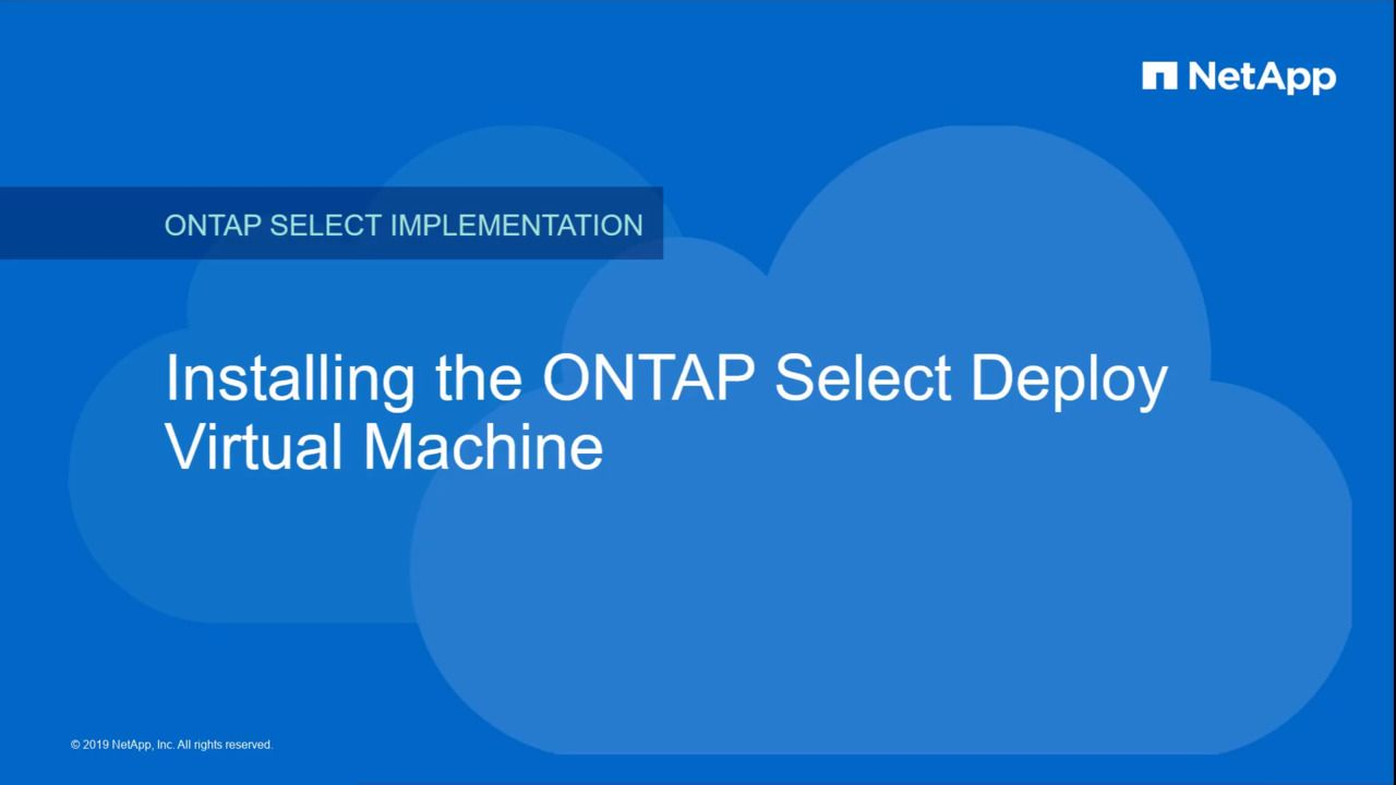 Installing the ONTAP Select Deploy Utility