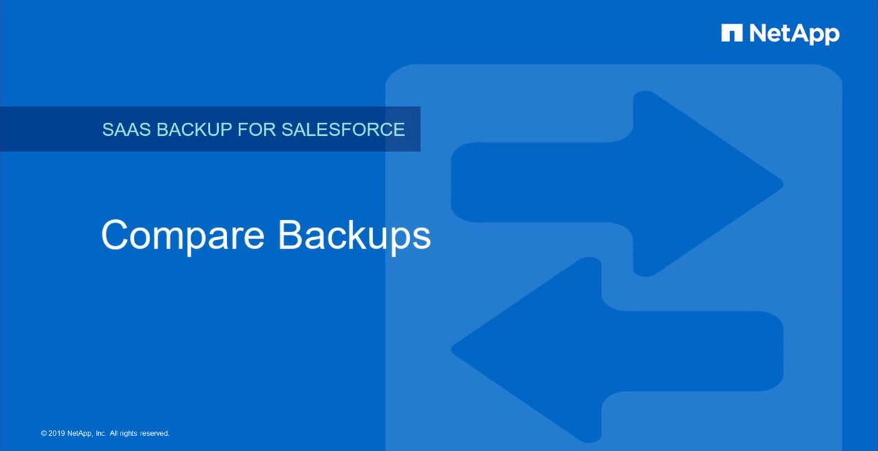 Compare Backups in NetApp SaaS Backup for Salesforce