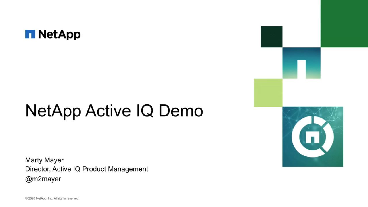 The New NetApp Active IQ Experience
