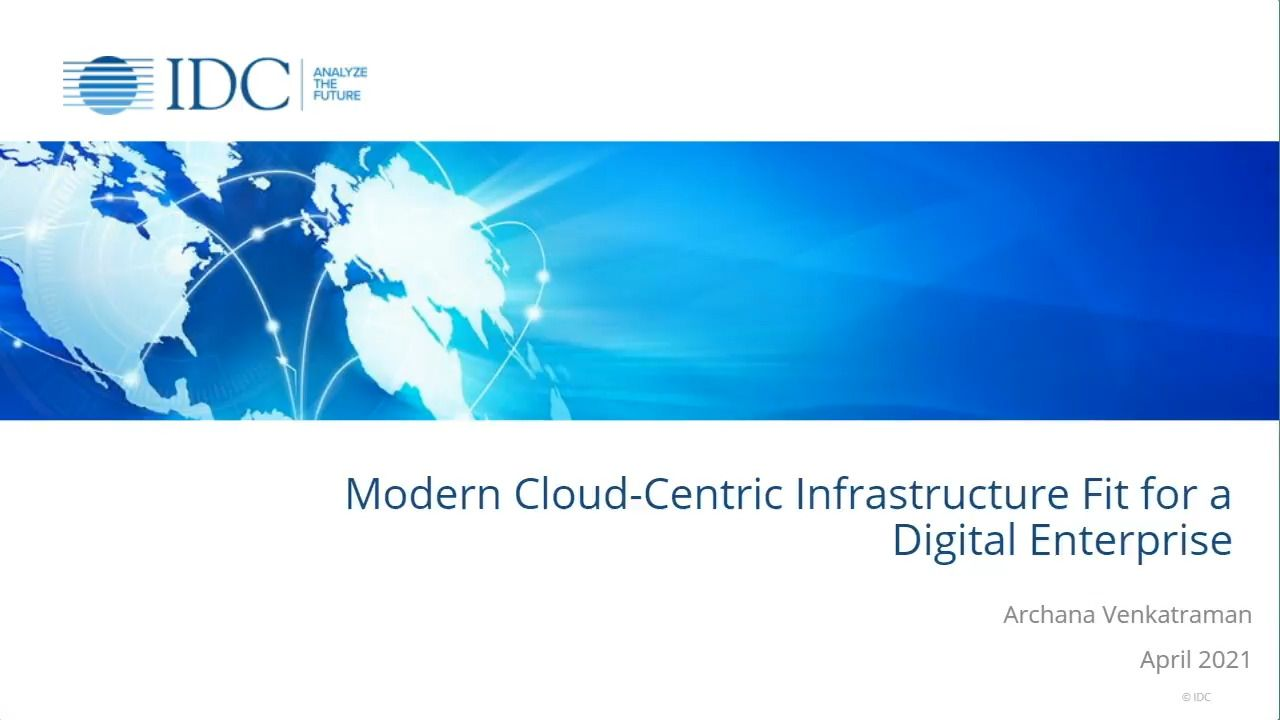 Modern Cloud-Centric Infrastructure Fit for a Digital Enterprise