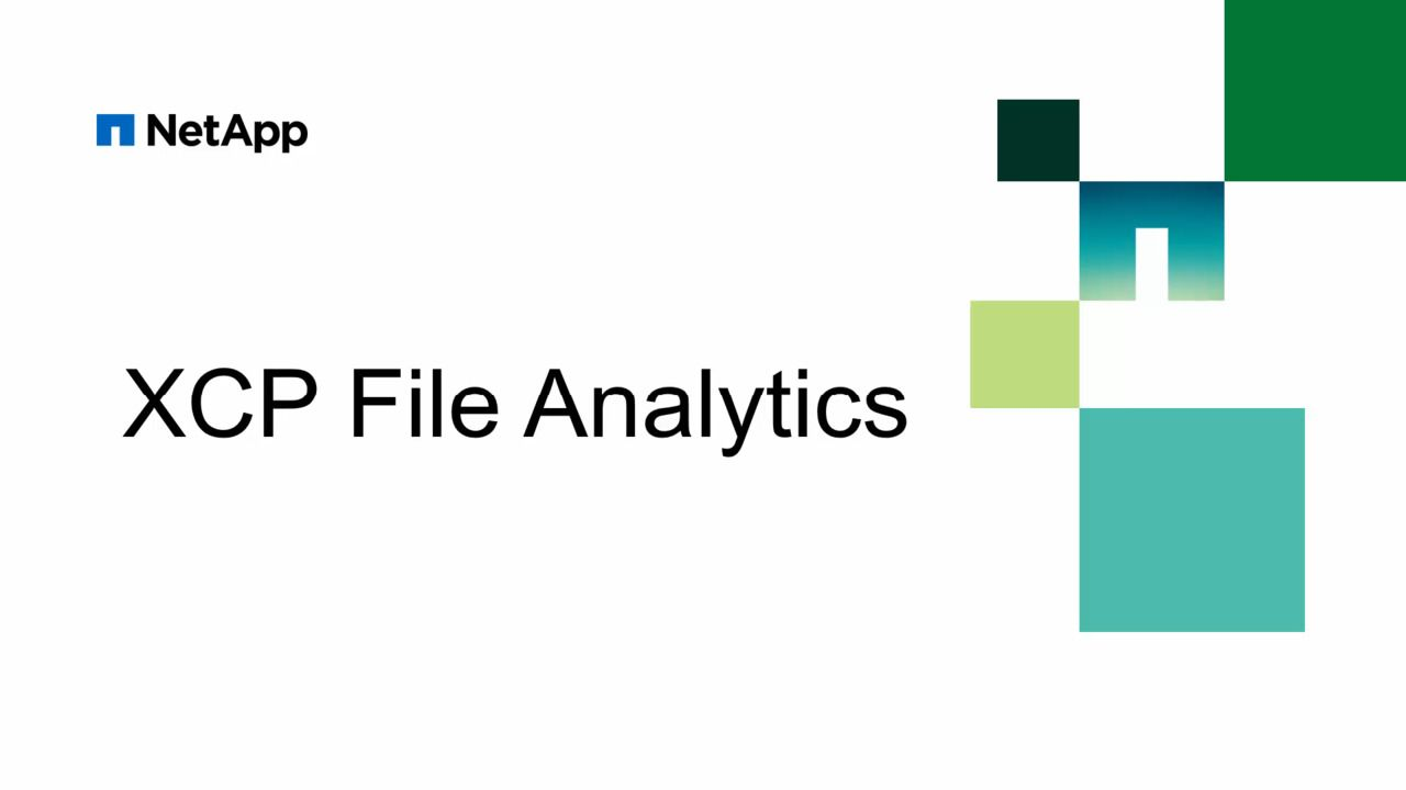 XCP File Analytics
