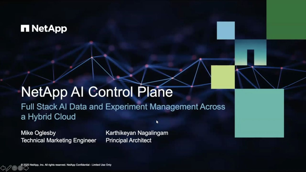 Full Stack AI Data Management Across the Hybrid Cloud with the NetApp AI Control Plane