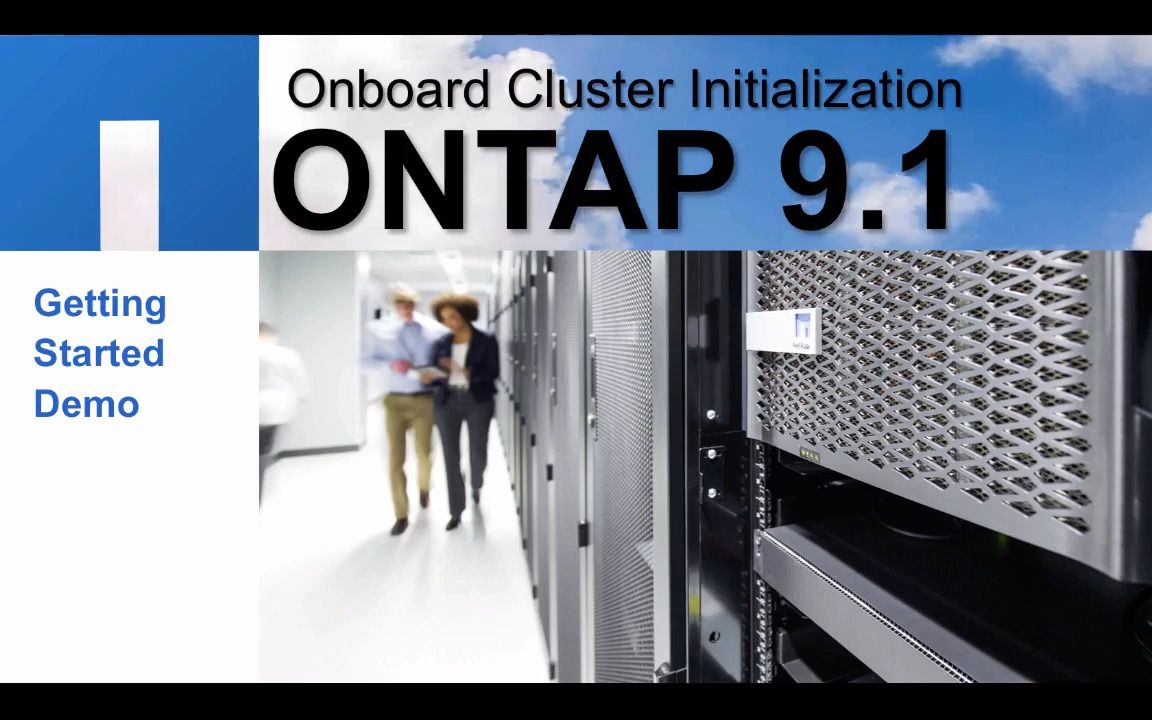 ONTAP 9.1 Cluster Initialization Using OnCommand System Manager