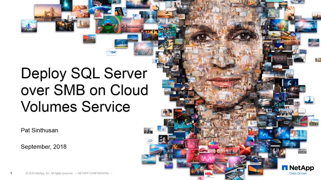 Deploy SQL Server Over SMB on Cloud Volumes Service