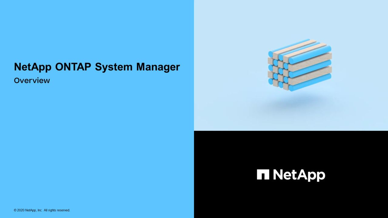 ONTAP 9 System Manager Overview