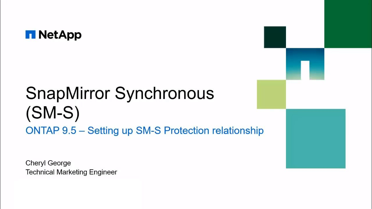 Setup a SnapMirror Synchronous (SM-S) Relationship Using OnCommand System Manager