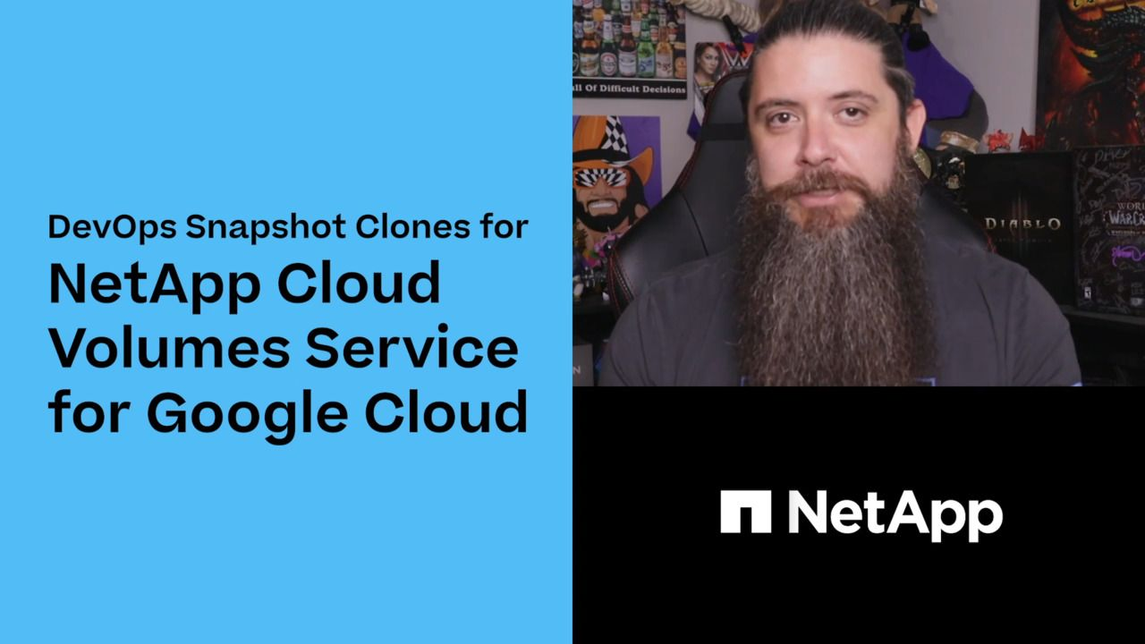 DevOps Snapshot Clones for Cloud Volumes Service for Google Cloud