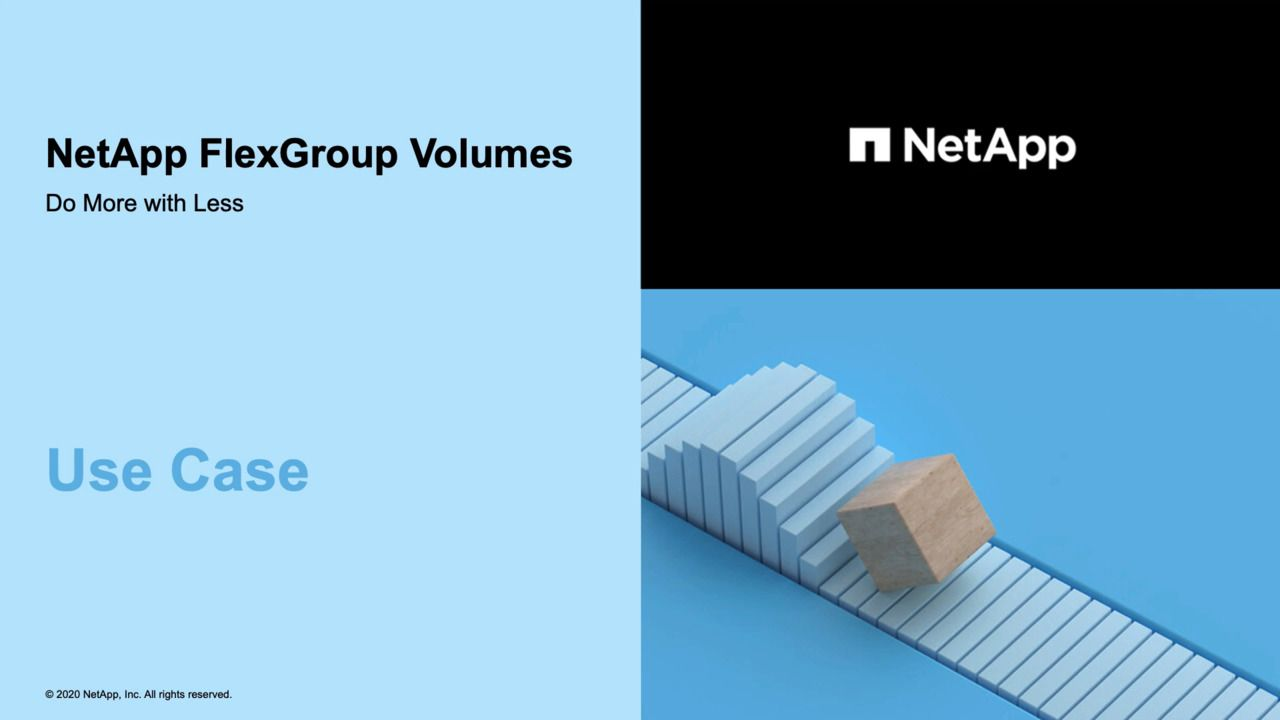 ONTAP FlexGroup Volumes - Use Case