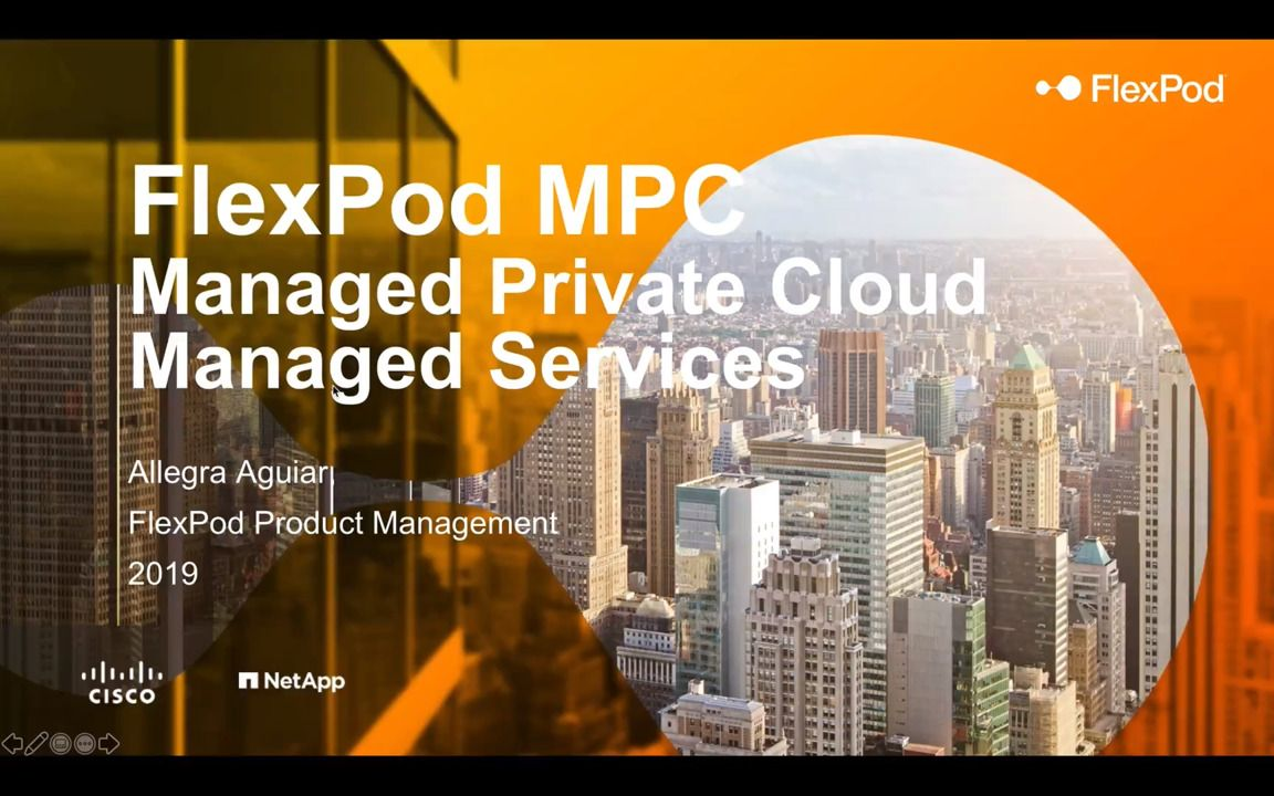 FlexPod Managed Private Cloud and Managed Services