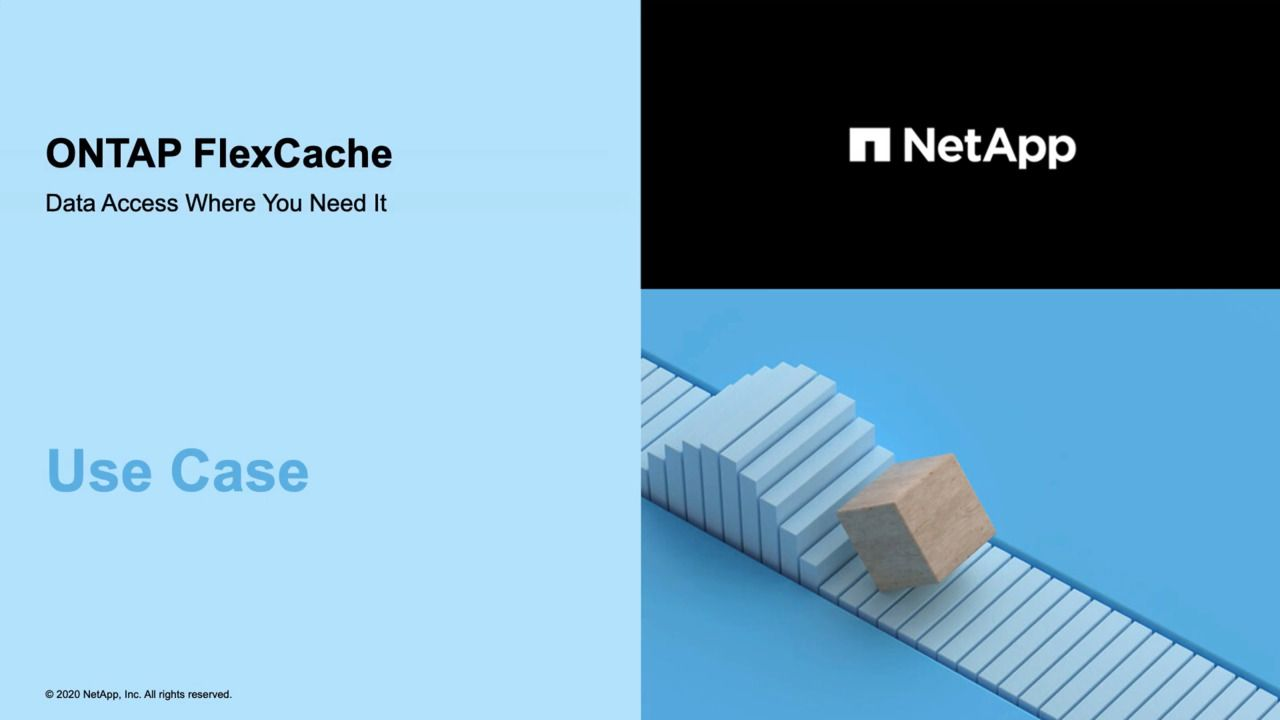 ONTAP FlexCache - Use Case