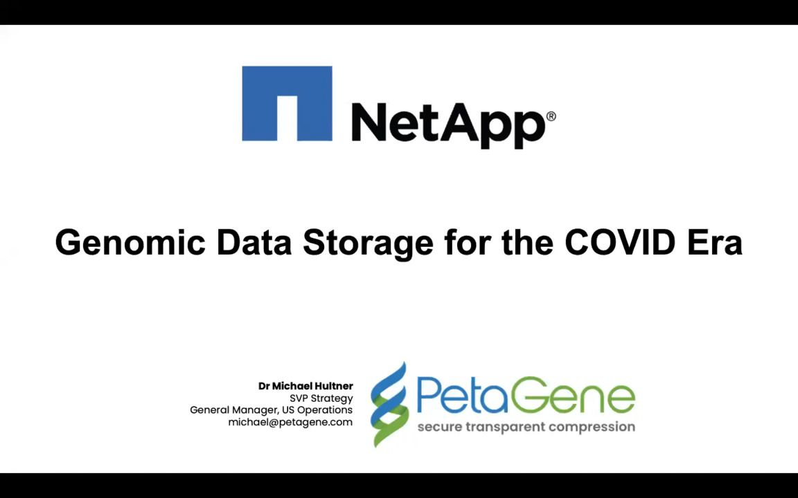 Genomic Data Storage for the COVID Era