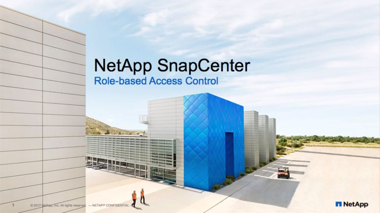 SnapCenter Role-Based Access Control