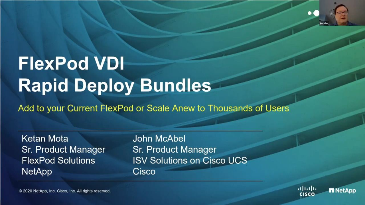 FlexPod VDI Rapid Deploy Bundles