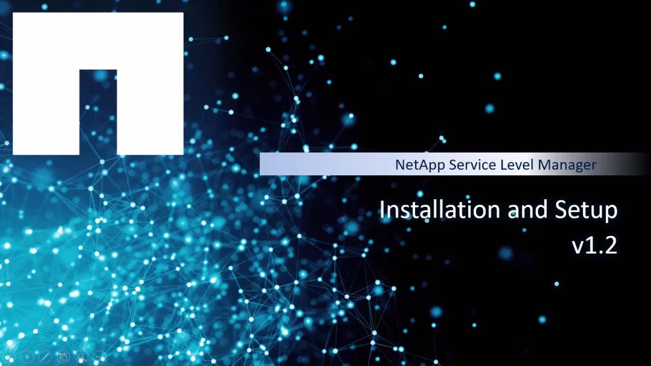 Installation and Setup for NetApp Service Level Manager v1.2
