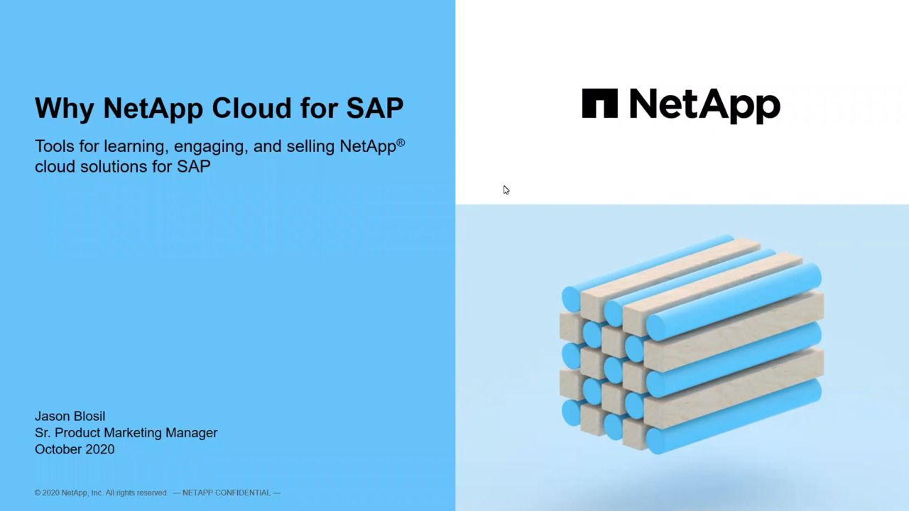 Why NetApp Cloud for SAP?