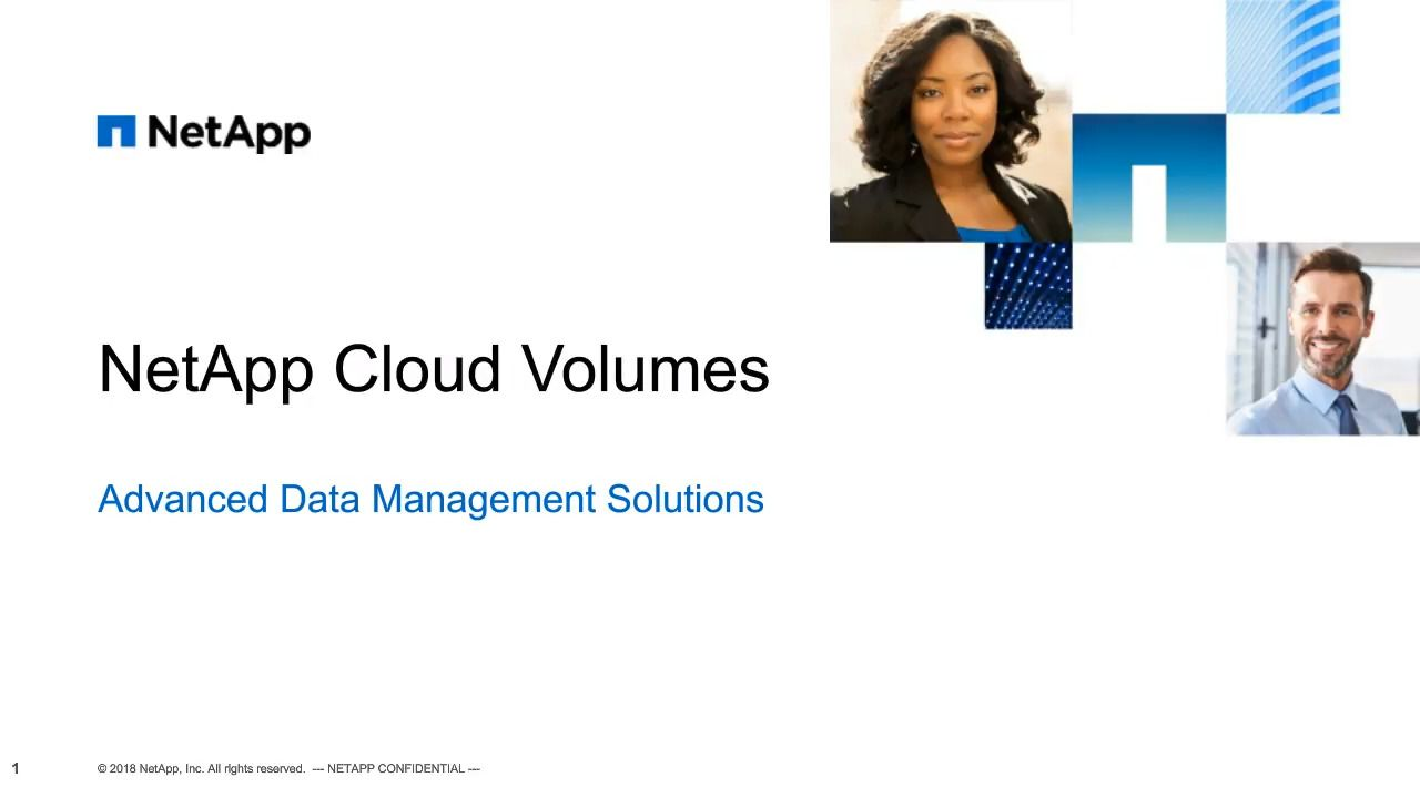 NetApp Cloud Volumes Service – Advanced Data Management Solutions