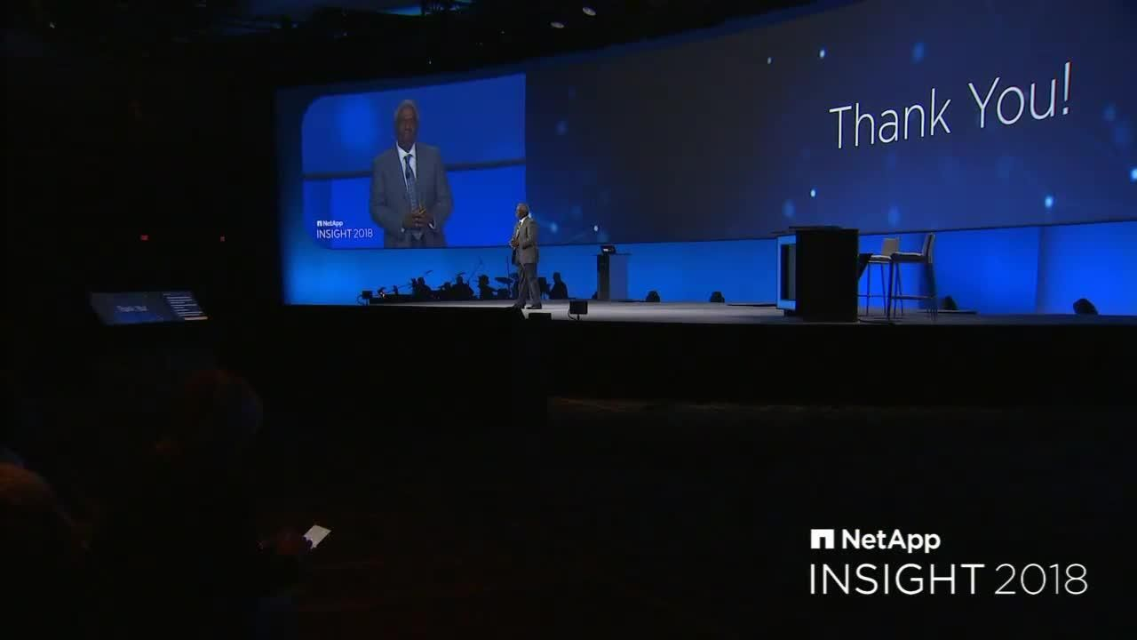 George Kurian Thanks NetApp Customers at NetApp Insight 2018