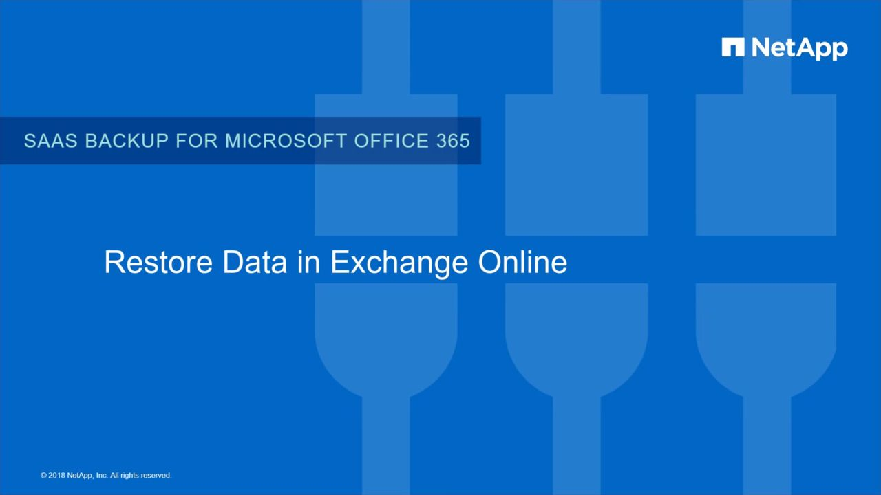 Restoration of Data in NetApp SaaS Backup for Microsoft Exchange Online