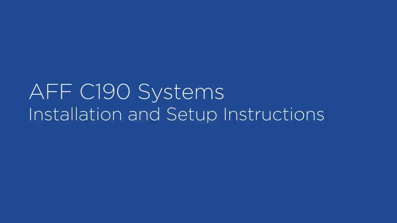 NetApp AFF C190 Installation Instructions