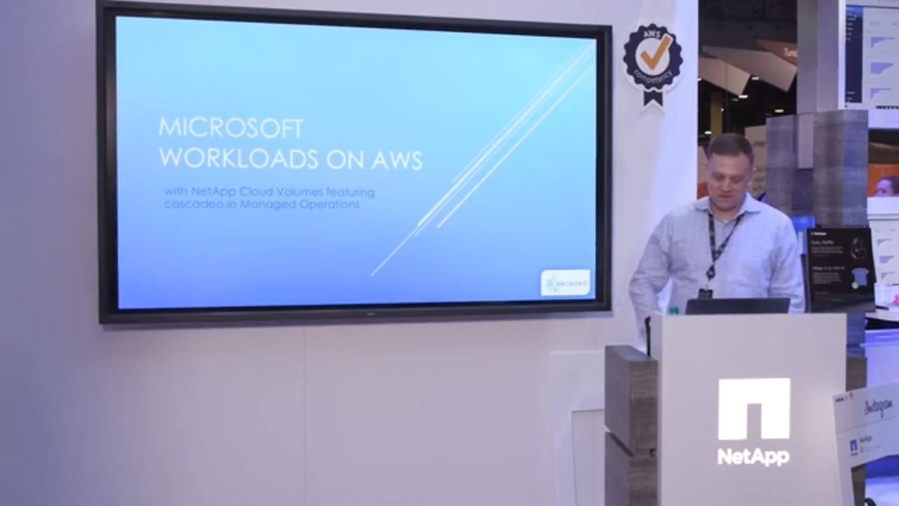 How NetApp and Cascadeo Manage Microsoft Workloads in AWS