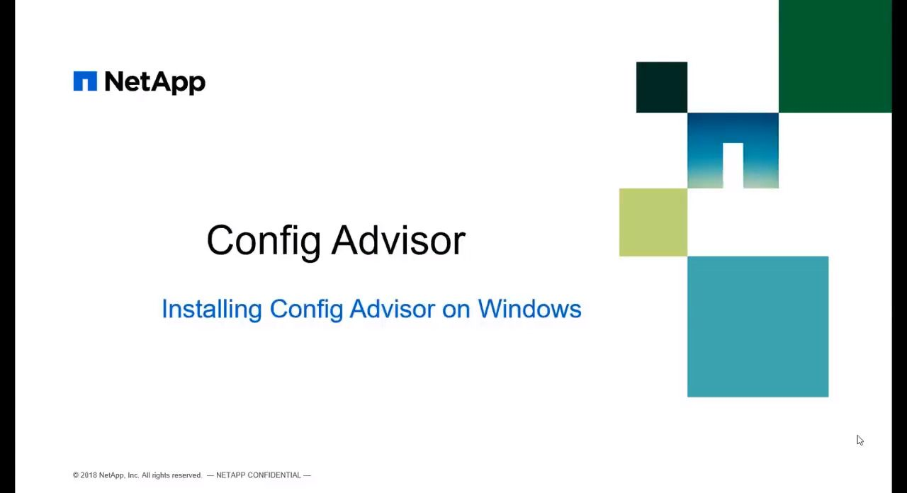 Installing Config Advisor 5.2 on Windows