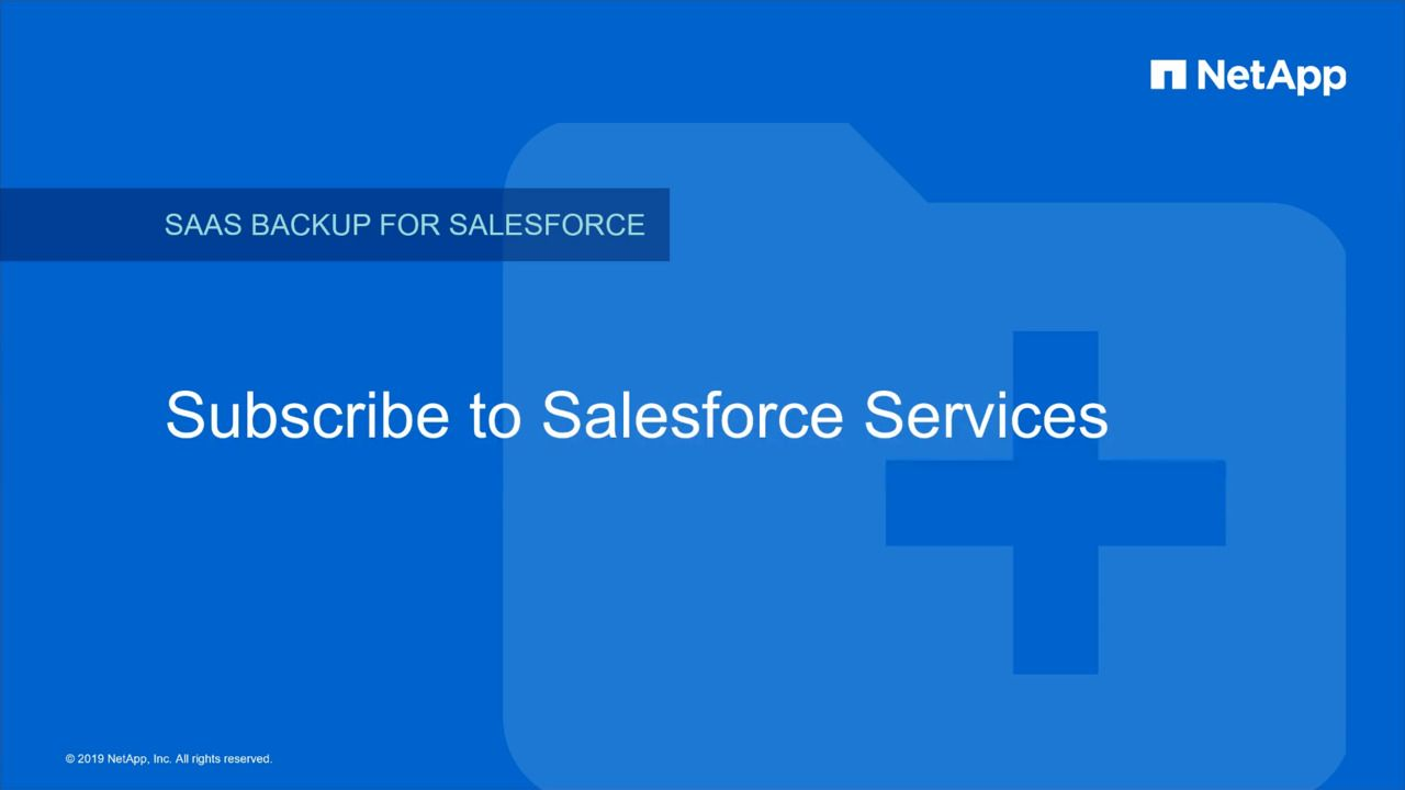 Subscribe to Salesforce Services in NetApp SaaS Backup