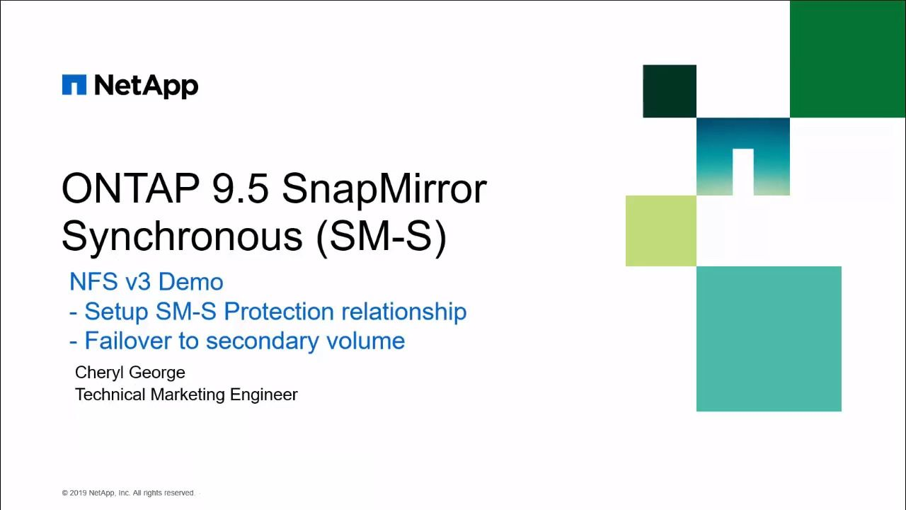 SnapMirror Synchronous for NFSv3 Volume