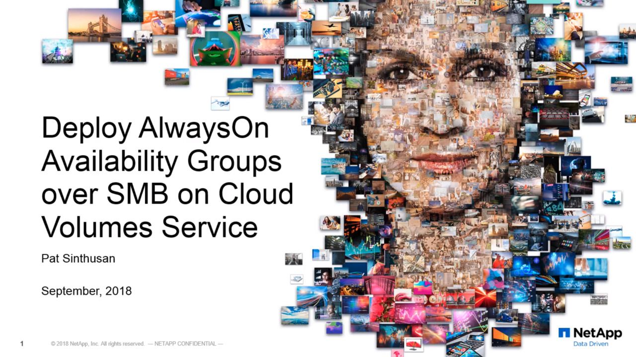 Deploy AlwaysOn Availability Groups Over SMB on Cloud Volumes Service
