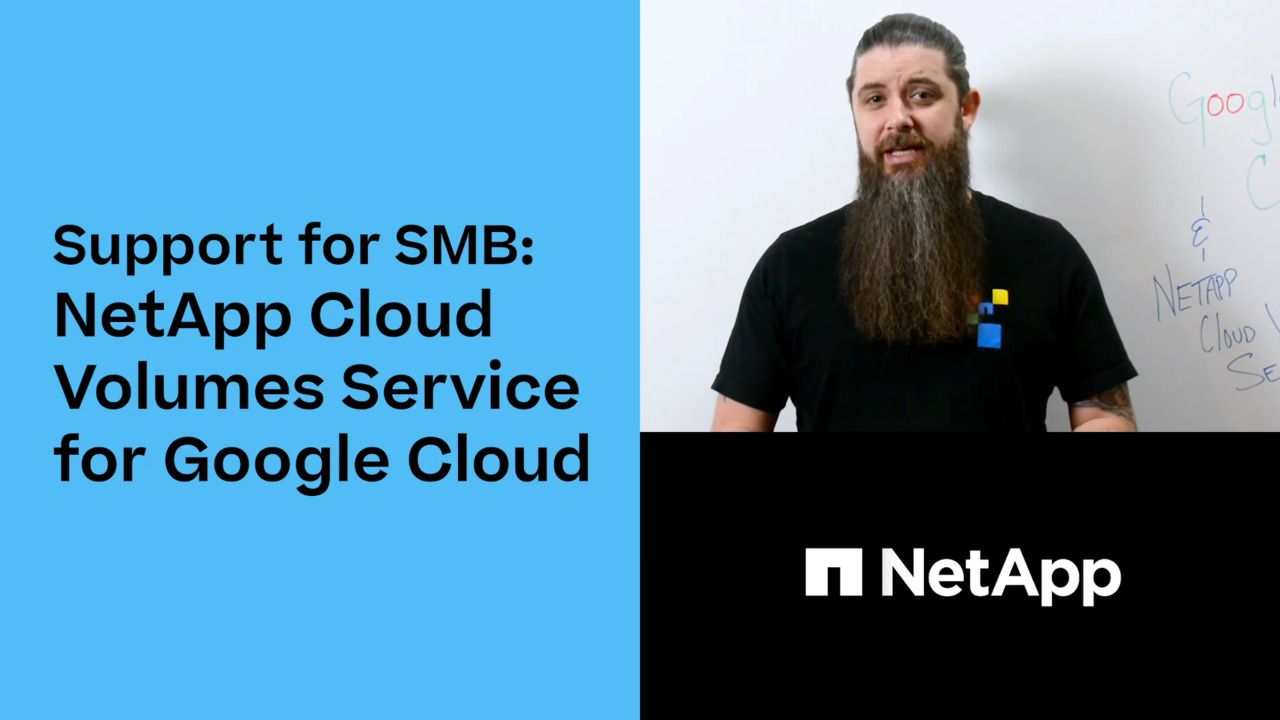 SMB Cloud Volumes Natively in Google Cloud