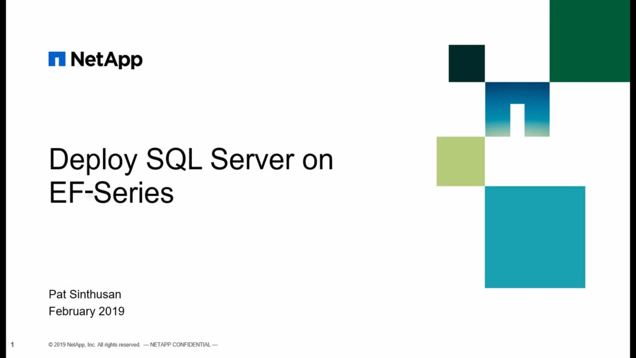 Deploy SQL Server on EF-Series