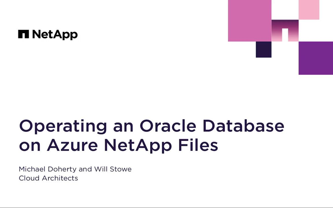Operating an Oracle Database on Azure NetApp Files