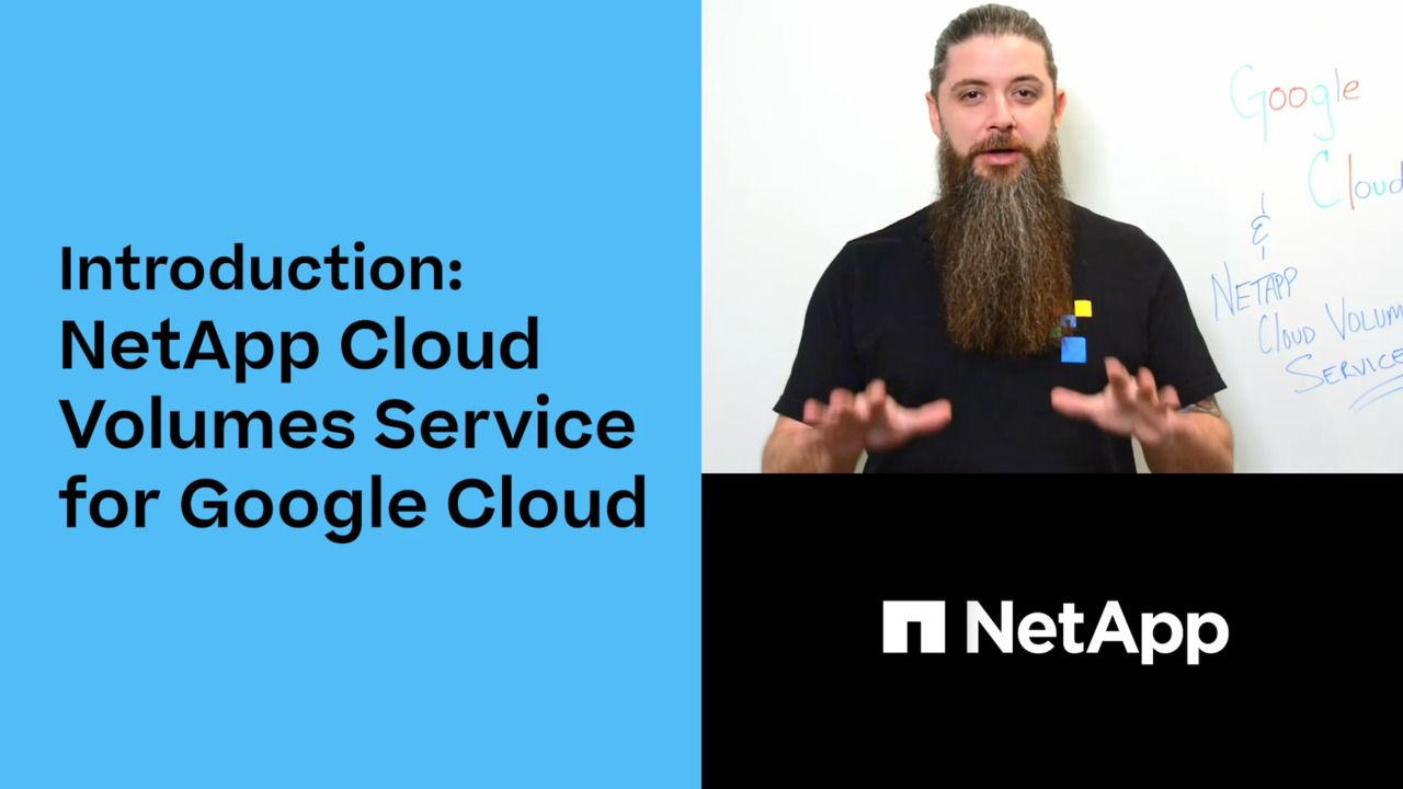 Introducing Cloud Volumes Service for Google Cloud