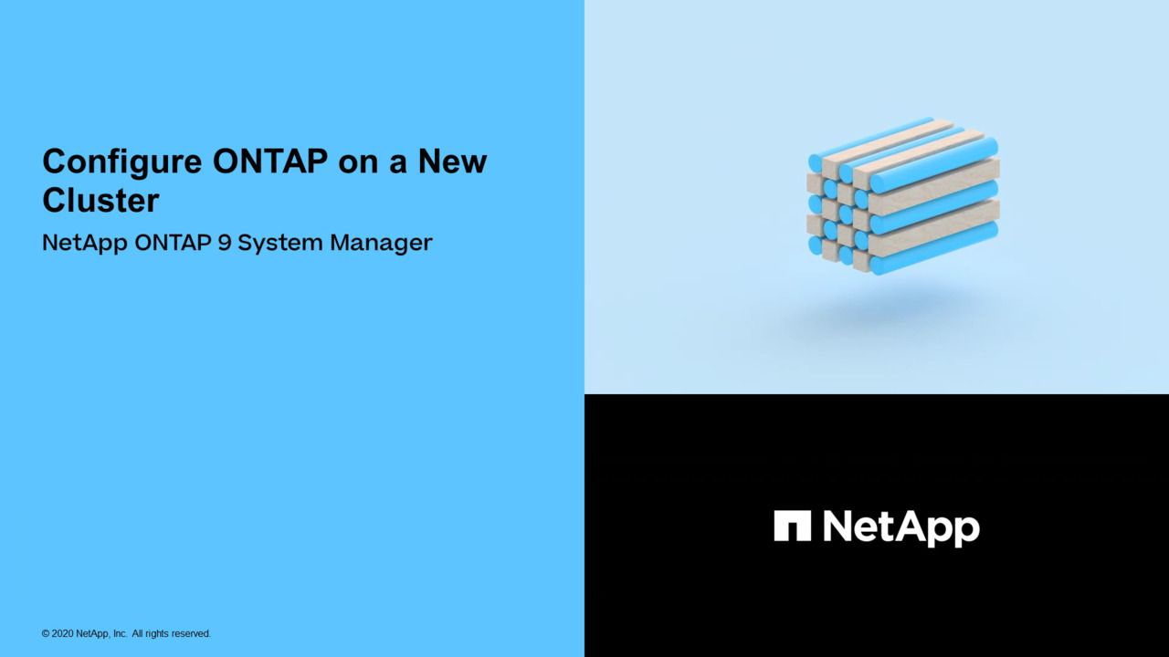 Configure ONTAP on a New Cluster