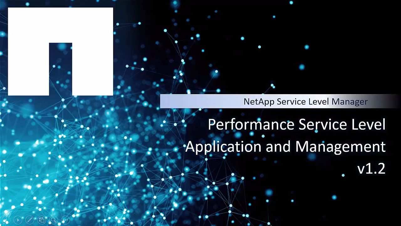 Performance Service Level Application and Management in NetApp Service Level Manager