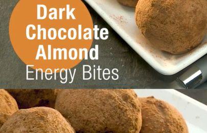 Dark Chocolate Almond Energy BitesRecipe