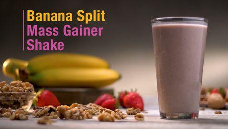 Banana Split Mass Gainer Shake