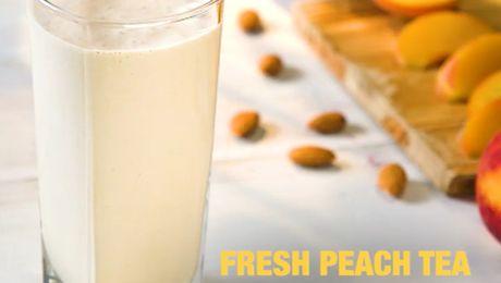 Fresh Peach Tea Shake Recipe
