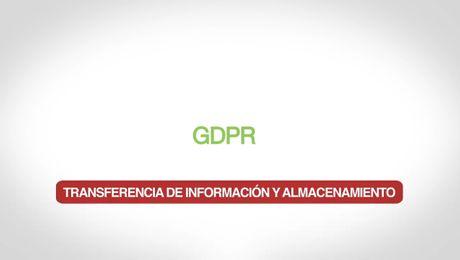 GDPR – Transferencia de información y almacenamiento