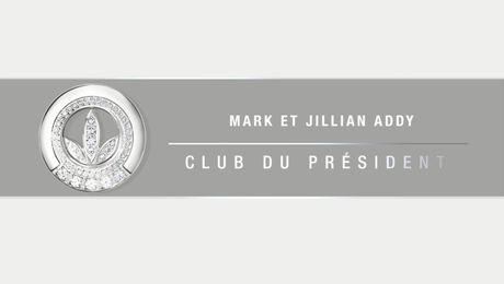 Nouveaux membres du Club du président : Mark et Jillian Addy