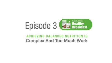 EP03: Healthy Breakfast Training - Achieving Balanced Nutrition is Complex & Too Much Work